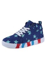 Znpnxn Canvas Men Fashion Sneakers with High Cut (Blue) (Intl)
