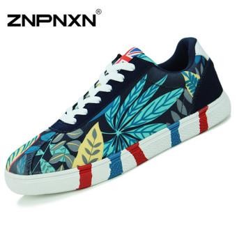 ZNPNXN Couple's Fashion Sneakers Personality Shoes Walking Shoes (blue)
