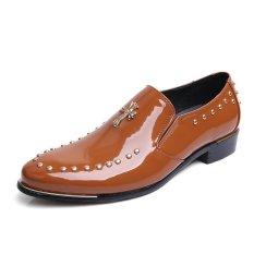 ZNPNXN Leather Men's Fashion Fromal Low Cut Shoes (Brown)