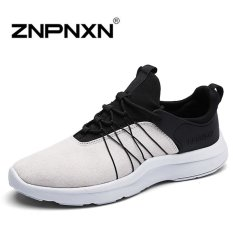 ZNPNXN Men's Breathable Casual Sports Shoes Running Shoes (Black / Grey) - Intl