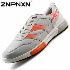 ZNPNXN Men's Casual Sports Shoes Lace-Up Shoes (Grey)