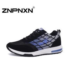 ZNPNXN Men's Fashion Breathable Casual Sports Shoes (Black / Blue)