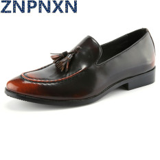 ZNPNXN Men's Fashion Formal Shoes & Low Cut Shoes Leather Shoes (Yellow)