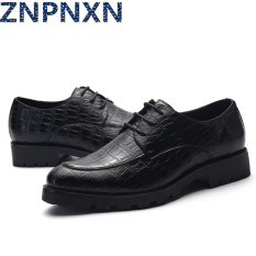 ZNPNXN Men's Fashion Formal Shoes & Low Cut Slip-on Shoes Leather Shoes (Black)