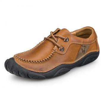 ZNPNXN Men's Fashion Lace-up Shoes Leather Shoes Formal Shoes Low Cut Shoes Shoes Walking Shoes (Brown)