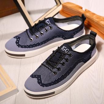 ZNPNXN Men's Fashion Loafers Upper Materials Tull (Blue)