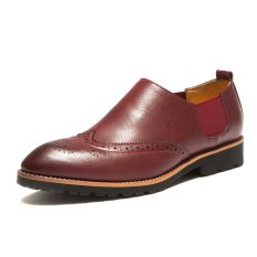 ZNPNXN Patent Leather Men's Formal Shoes Derby & Oxfords) Red) (Intl)