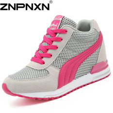 ZNPNXN Women's Fashion Sports Wedges Tulle Shoes (Pink)