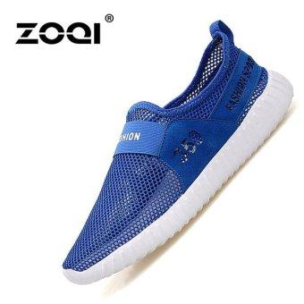 ZOQI Men's And Women's Fashion Sport Shoes Running Shoes Light Sneaker(Blue) - intl
