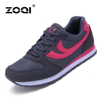 ZOQI Musim Panas Mode Wanita Sepatu Kets Sepatu Olahraga Kasual Yang Nyaman  Untuk Bernapas (Abu cedacf6fac