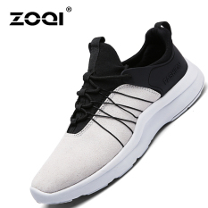 ZOQI Summer Man's Fashion Sneakers Sport Casual Breathable Comfortable Shoes-Grey