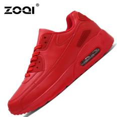 ZOQI Summer Man's Fashion Sneakers Sport Casual Breathable Comfortable Shoes-Red