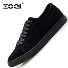 ZOQI Summer Man's Formal Low Cut Shoes Fashion Casual Comfortable Shoes-Black