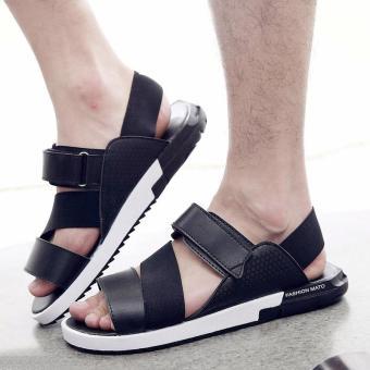 ZOQI Women's Fashion Summer Sandals Slippers Casual Shoes Beach Shoes (Black) - intl