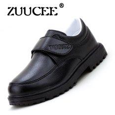 ZUUCEE Boy mode musim semi dan musim gugur sepatu kulit sepatu anak (hitam ) - International