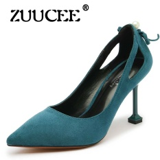 ZUUCEE High Heels Sandals Women Sexy Fetish High Heels Designer Party Shoes Wedding Bride Mary Jane Shoes(blue) - intl