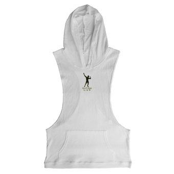 24f8294fad5f76 ZYZZ Fashion Bodybuilding Gym Stringer Hoodies Men Vest Sleeveless Muscle  Hoodie Clothing Sweatshirts (White)