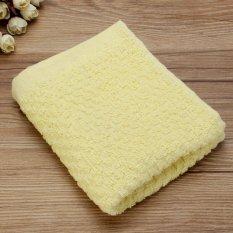 72x31cm Cotton Towel Face Cloth Hand Bath Towel Yellow - Intl