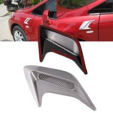 1 Pair Car Decorative Air Scoop Flow Intake Hood Vent Bonnet Universal DIY Style