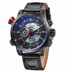 [100% Genuine] WEIDE Men's Fashion Casual Sports Watch Quartz Digital LED Back Light Military 30m Waterproof Men Watches - Intl