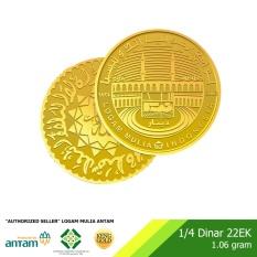 1/4 Dinar Emas 1.06 Gram - Kadar Emas 91.7% Sertifikat Antam -