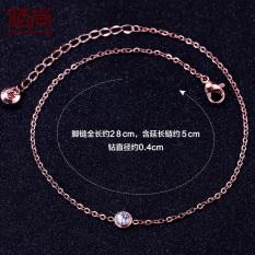 18 K Korea Fashion Style Naik Berlapis Emas Gelang Kaki Hadiah Temperamen