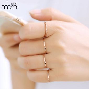 18K perempuan naik berlapis emas cincin cincin cincin empat set