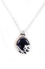 1Pc Vampire Diaries Katherine Natural Opal Blue Stone Pendant Necklace Deep Blue