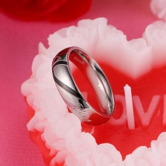 1Pcs Stainless Steel Men's Ladies' Promise Ring Real Couple Wedding Bnads - intl
