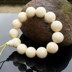 2 Pcs Chinoiserie Accessory Strand Bracelet Beads Of Synthetic Resin and Rare Natural Wood Hot Seller