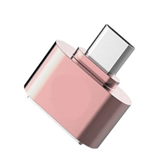 2 Pcs Micro USB To USB OTG Adapter Converter untuk Tablet PC Ponsel Samsung HTC Xiaomi Huawei Rose Gold -Intl