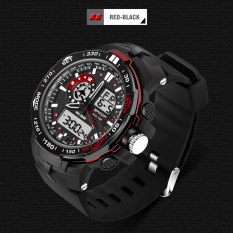 2016 Best Quality SANDA 737 Men's Fashion Outdoor Sports Waterproof Noctilucent Watch (Red)