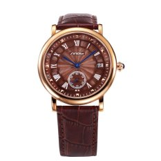 2016 Fashion And Luxury Leather Strap Watches For Male With High Quality Japan Quartz Analog Waterproof Wristwatch - Intl