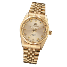 2016 Fashion Women's Golden New Clock Gold Fashion Watch Full Gold Stainless Steel Quartz Watches Wrist Watch Wholesale Gold Watch CX-004A (Gold)