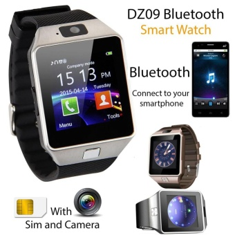 2016 Gold Bluetooth Smart Watch GSM SIM Card For Android iPhone Samsung Huawei - intl