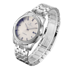 2016 High Quality High Fashion Men's Mechanical Watches Calendar 8412 Silver (Blu-ray Flour) (Intl)
