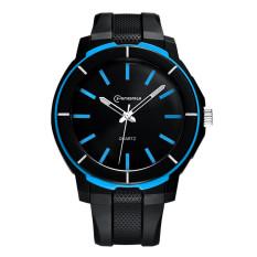 2016 High Quality Men's Fashion Casual Electronic Quartz Sports Watch Waterproof Electronic Quartz Male Watch 8835 (Sky Blue)