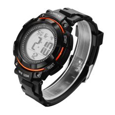 2016 New Brand Watch Men Military Sports Watches Fashion Waterproof LED Digital Watch DR-306G-1 (Orange)