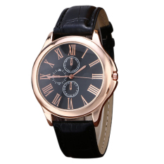 2016 New Fashion Top Selling Brand Quartz PU Leather Wristwatch (Intl)