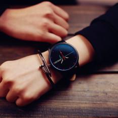 2016 Popular Fashion Watches Creative ECG Leather Quartz Watches Casual Men's Sports Watch