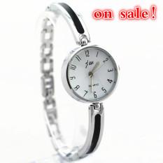2016 Promotion!Bracelet Styles Metal Band, Silver Plating Case, Simple Design Dial, Quartz Movement, Fashion Lady Quartz Watches (Silver-B)