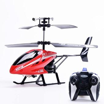 2.5 Channel Mini Remote Control Helicopter Remote Control Electric LED Head Light Outdoor Helicopter Toys - intl