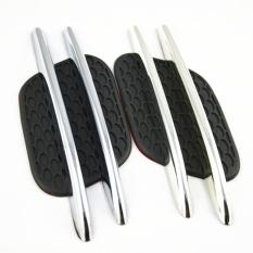 2pcs*2pcs Car Styling 3d Chrome Decal Side Mesh Vent Air Flow Fender Decorative Sticker Car Decoration - Intl
