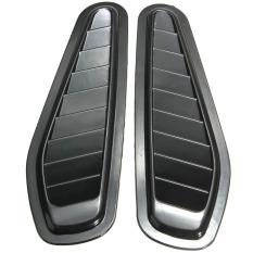 2x Car Decorative Air Flow Intake Hood Vent Bonnet Fender Grill Universal OB0522 Black - Intl