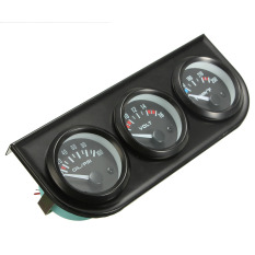 "3 CAR Pointer GAUGE - WATER TEMP A""‰ / OIL PRESSURE / VOLT - 2"" 52MM LED Light"