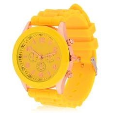 360DSC Fashion Silicone Dial Casual Wrist Watch Yellow - intl