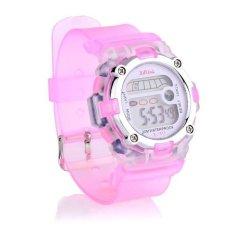 360DSC Multifunctional Waterproof Sport Digital Wrist Watch for Men Women Pink - intl