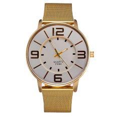 360DSC Sanfoni 203801 Womenu0026#39;s Luxury Ultra-thin Big Case Golden Mesh