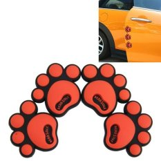 ... Side Door Edge Protection Guards Cover Trims Stickers intl 4 PCS Dog Footprint Shape Cartoon Style