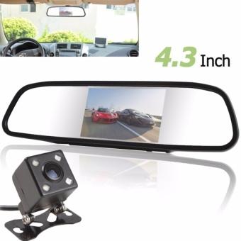 480x272 4.3 Inch Warna Digital TFT-LCD Screen Car Rear ViewMirror Monitor + 420 TV Lines Night Vision Kamera dengan 170 DegreesWide Angle Lens-Intl